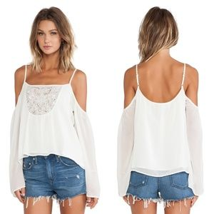 Lovers + Friends Coastal Love Cold Shoulder Blouse